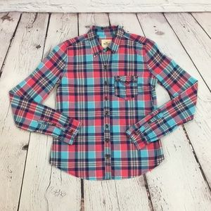 Hollister size small plaid button down shirt small
